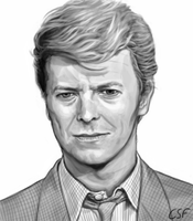 David Bowie by CartoonSilverFox