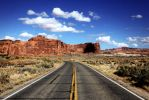 Driving Through Arches National Park by j0s2m21