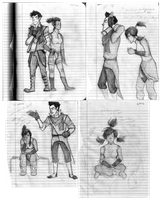 LOK: Makorra Sketches by ApatheticThoughts