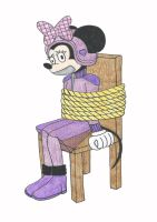 Minnie Mouse The Roadster Racer - Tied And Gagged by Nightwishrockz