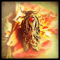 Jeweled Cicada Ring by 19Moons by 19Moons