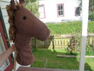 Hobby horse 'Angel' for kindy by I-Do-Care