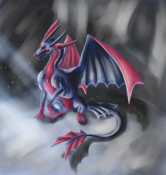 Dragonized Nocturna for TheDragonofDeath by LaraMuk