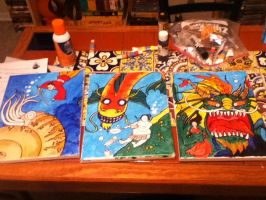 Work in Progress - The Kaiju Project (all three) by supremetechgoddess