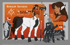 [C] 'Rosalin Savaras' - Ref sheet by WMDiscovery93