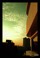 balkon sunset view by icasialnrdy