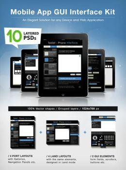 GUI - Phone Pad Application Interface Design by Giallo86