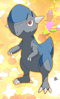 Cranidos whit background