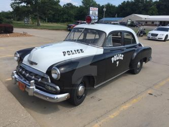 1952 Chevy Police Car by iannathedriveress