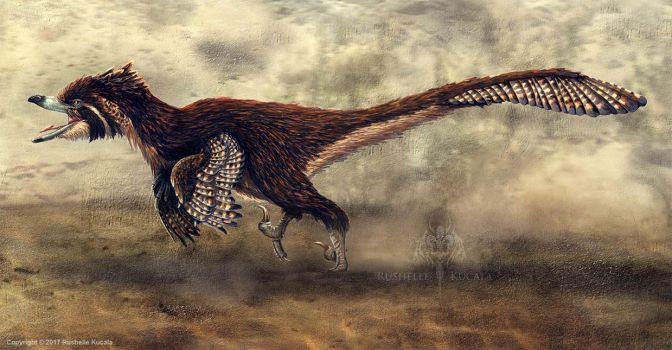 Velociraptor Mongoliensis Restored by TheDragonofDoom