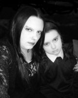 Mortica and Wednesday addams by Little-Horrorz