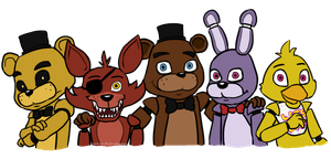 Fazbear and Friends by menta-RR-66