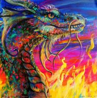 Psychedelic Dragon by james-talon