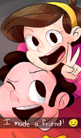 Steven and Mabel by cheezyme123