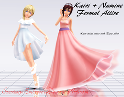 {MMD DOWNLOAD} Kairi + Namine - Formal by MariCorsair