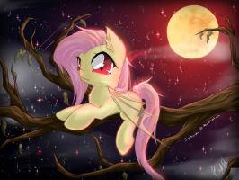Flutterbat's Night by SpiderShii