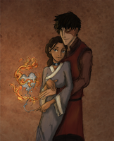Zuko and Katara by HILLYMINNE