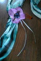 Persephone Fancy Hair Flower by Starlit-Sorceress