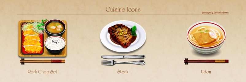 Cuisine Icons by jamespeng