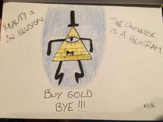 Bill Cipher from Gravity Falls by EvaMonkey