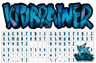 The McHuge Monsters Association- Font Commission by kidbrainer