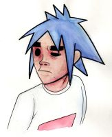 Gorillaz: 2D Watercolor by witch-girl-pilar