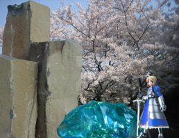 Fate Stay Night, Sabers Stone by Kato-Shiroi
