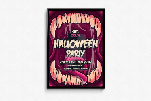 Halloween Poster Finished by snkdesigns