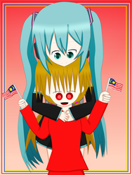 Happy Independence Day / Happy Birthday Miku!! by TashaShazali