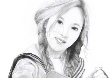 Nayeon Twice Pencil Drawing by MilanRKO