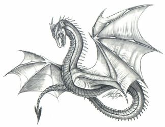 Old Style Dragon by psycrowe