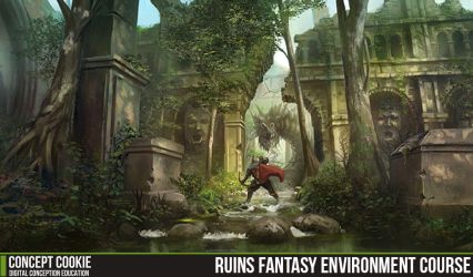 Ruins Fantasy Environment Course by CGCookie