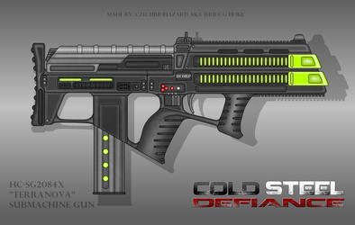 Fictional Firearm: HC SG2084x Terranova Plasma SMG by CzechBiohazard