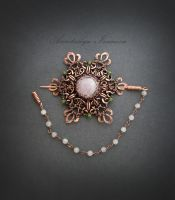 brooch with pink quartz by nastya-iv83