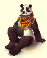 Relaxing Panda - Sketch by TasDraws