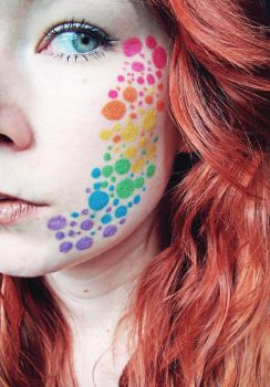 Rainbow Dots by Jennybicky