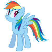 Lying Rainbow Dash by elviswjr