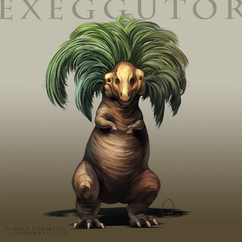 Type Collab: Exeggutor by ShadeofShinon