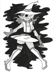 Inktober day 31: Slice + Alien Witch by Dalblauw