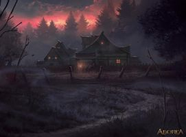 Homestead in the Woods by Nele-Diel
