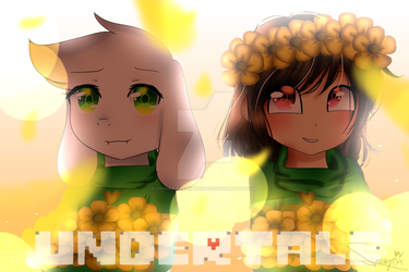 [UNDERTALE] Asriel and Chara by Chinny-FlareySnowzz