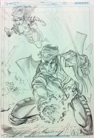 Rogue and Gambit by FreddieEWilliamsii