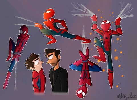 spider-man home CUMMING by Mikky-Be