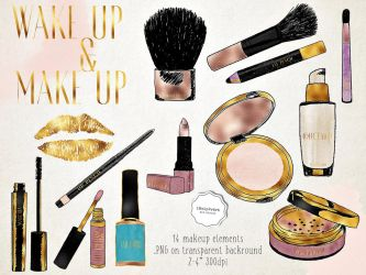 Makeup Clipart PNG kit by iCatchUrDream