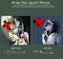 Draw this again meme by Shikylusion