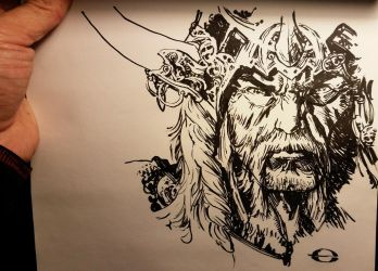 no pencil Barbarian straight to ink by ebas