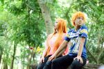 IchiHime - Holding hand by recchinon