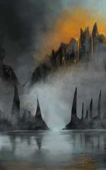Mount Fire - Speed paint. by Astarsia