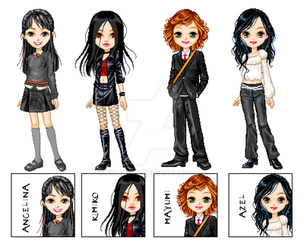 Angie's OC dolls and icons by pinabear