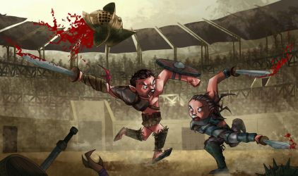 Spartacus VS Gannicus by MaxHwang